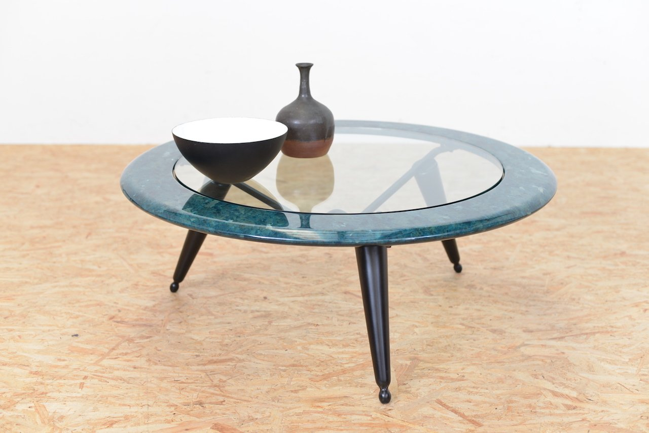 table basse vintage en marbre et verre en vente sur pamono. Black Bedroom Furniture Sets. Home Design Ideas