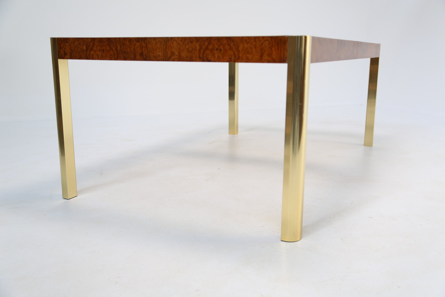 Esstisch Aus Wurzelholz Messing Glas Von Century Furniture