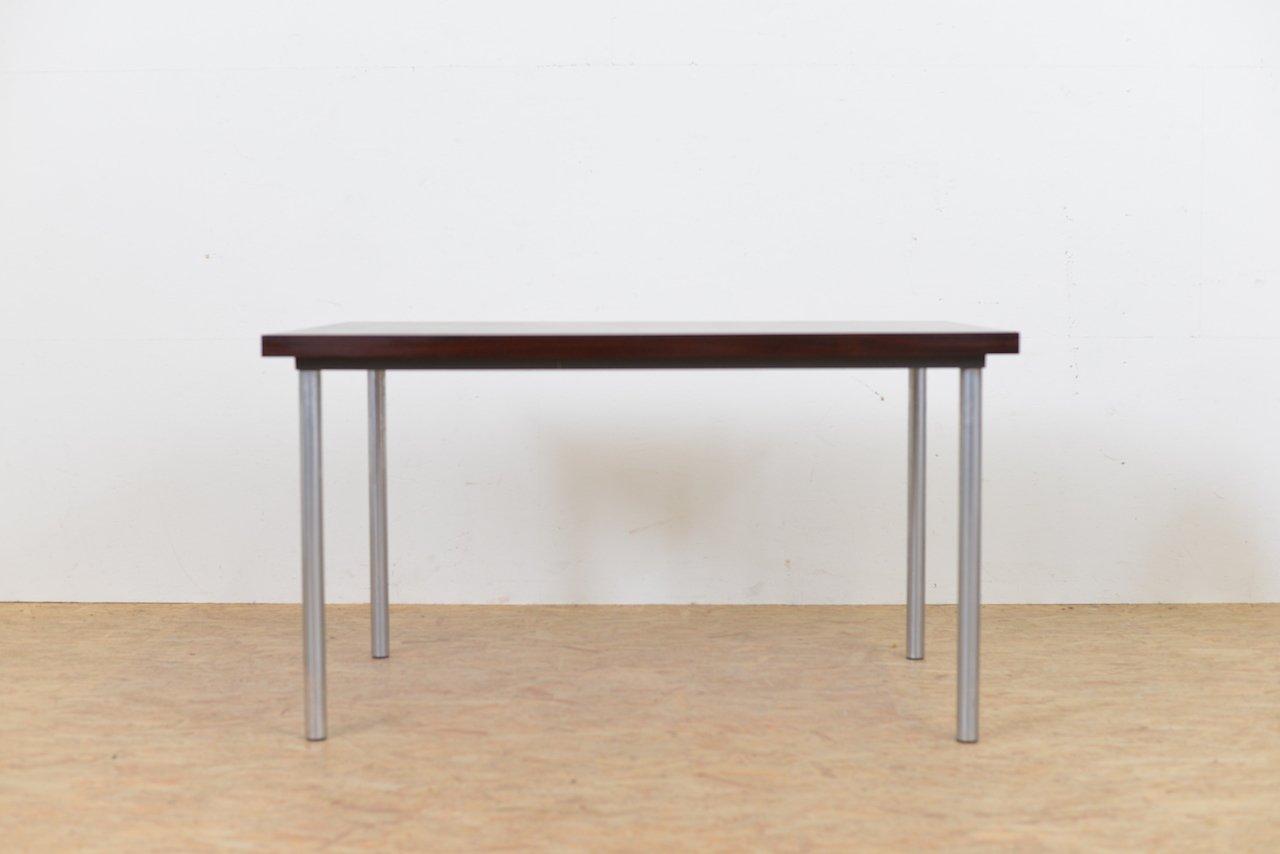 Tisch Mit Metallbeinen mid-century palisander tisch mit metallbeinen, 1960er bei pamono kaufen