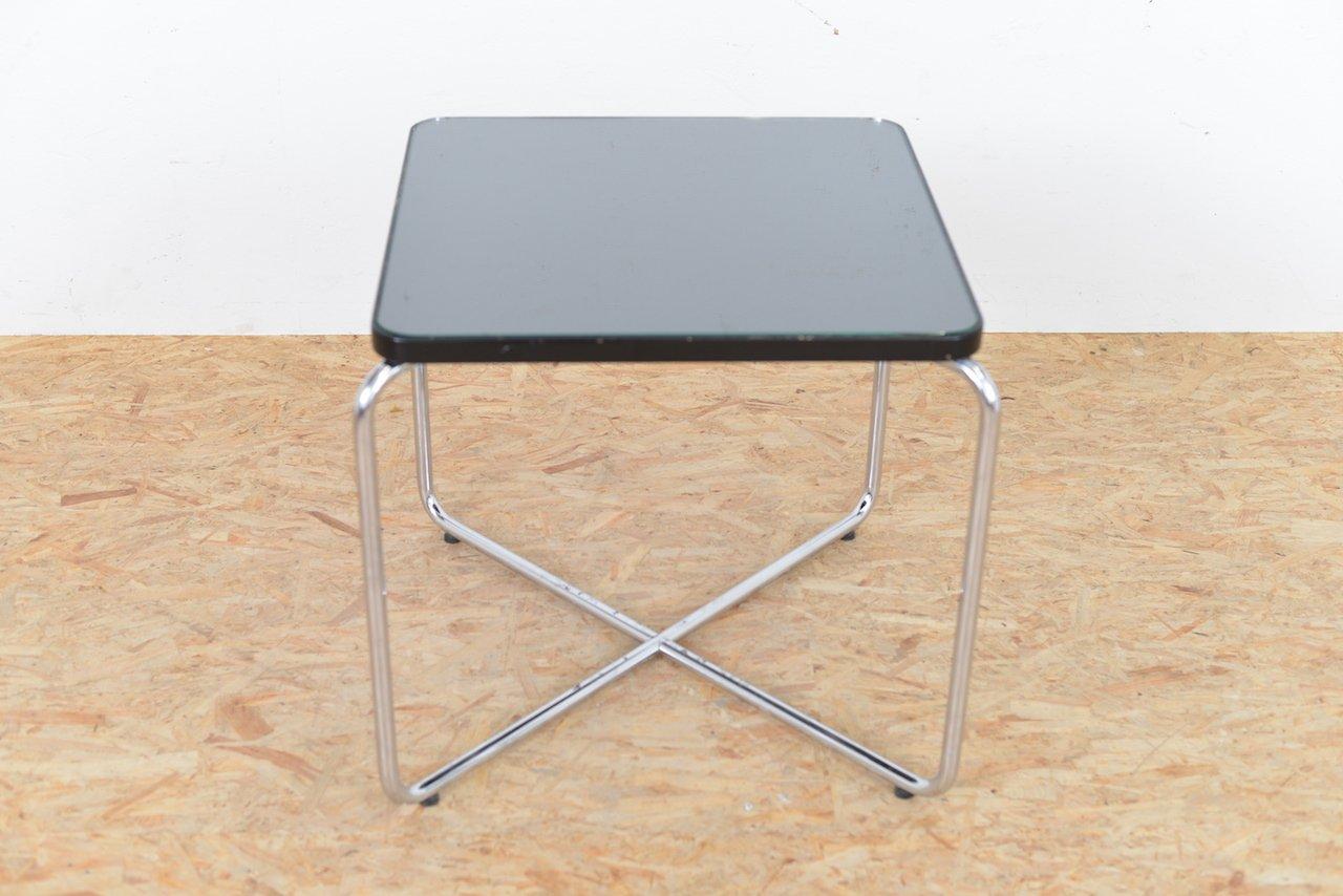 Tavolini In Vetro E Acciaio : Tavolino vintage in vetro e acciaio tubulare in vendita su pamono