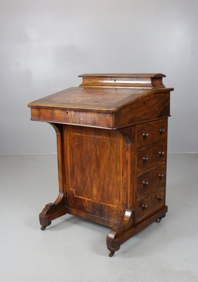 Antique Victorian Walnut Davenport Desk - Antique Victorian Walnut Davenport Desk For Sale At Pamono
