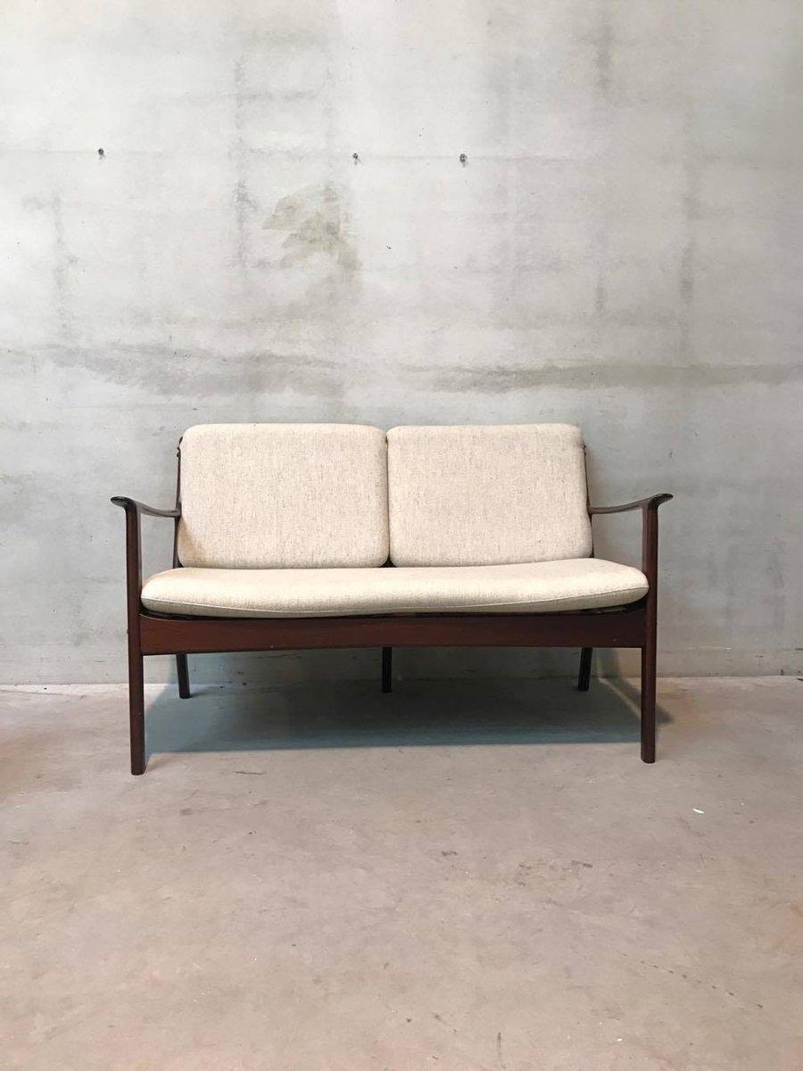 canap deux places vintage par ole wanscher pour p jeppesens m belfabrik en vente sur pamono. Black Bedroom Furniture Sets. Home Design Ideas