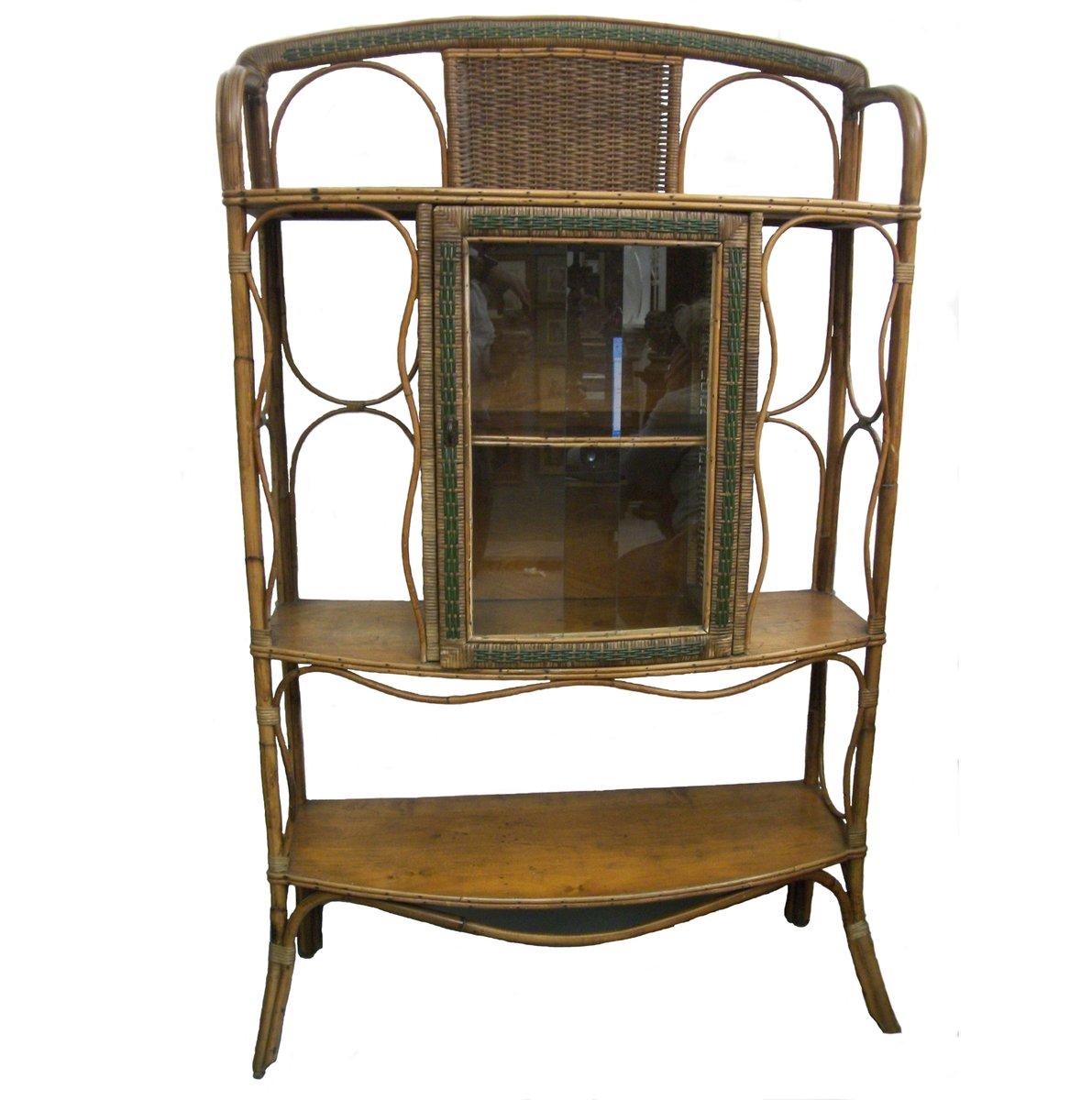 schrank aus korbgeflecht 1950er bei pamono kaufen. Black Bedroom Furniture Sets. Home Design Ideas