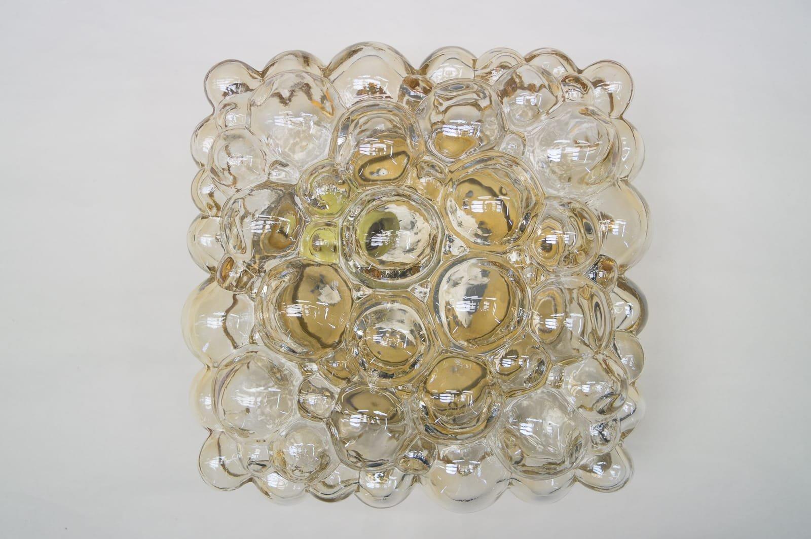 Applique rettangolare a bolle in vetro di helena tynell per