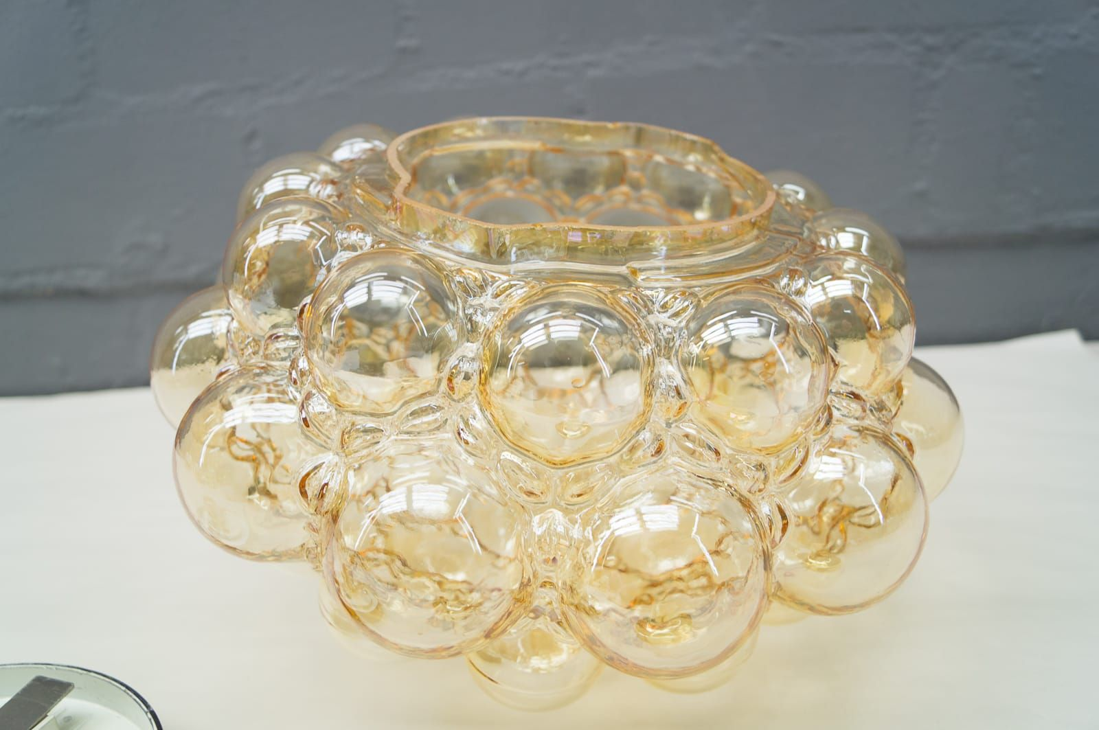 Large Bubble Glass Flush Mount by Helena Tynell for Limburg, 1960s ...