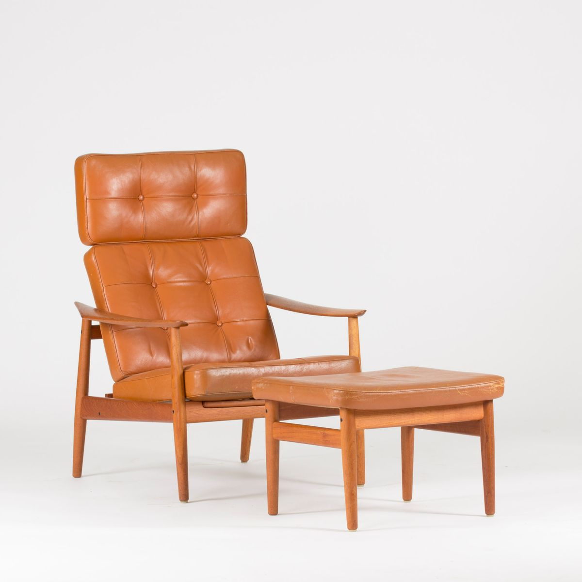 Lounge Chair With Ottoman By Arne Vodder For France U0026 Søn, 1960s