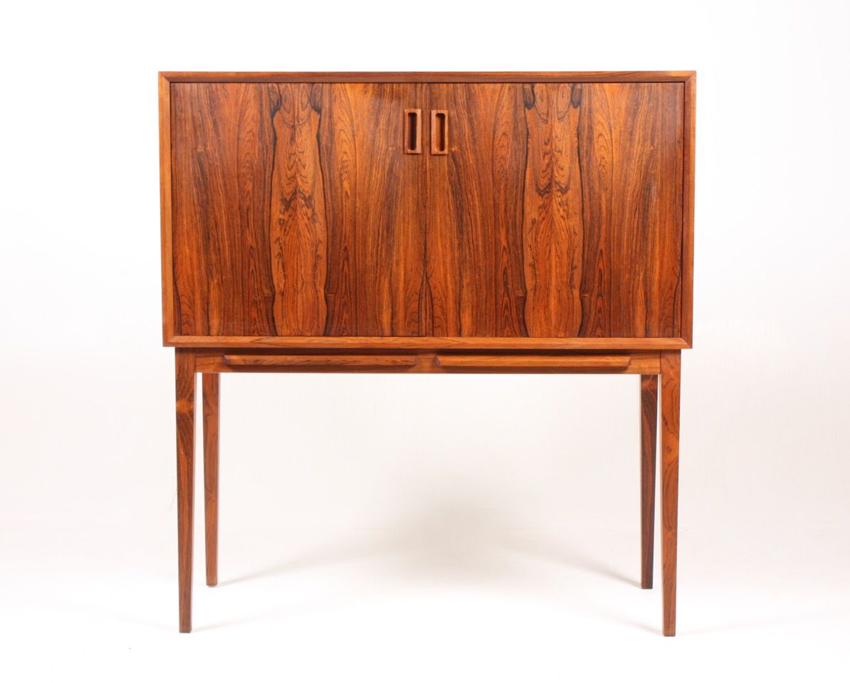 Great Mid Century Rosewood Dry Bar Cabinet