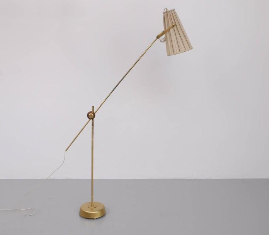 Mid-Century Stehlampe von Hans Bergström für Ateljé Lyktan, 1950er