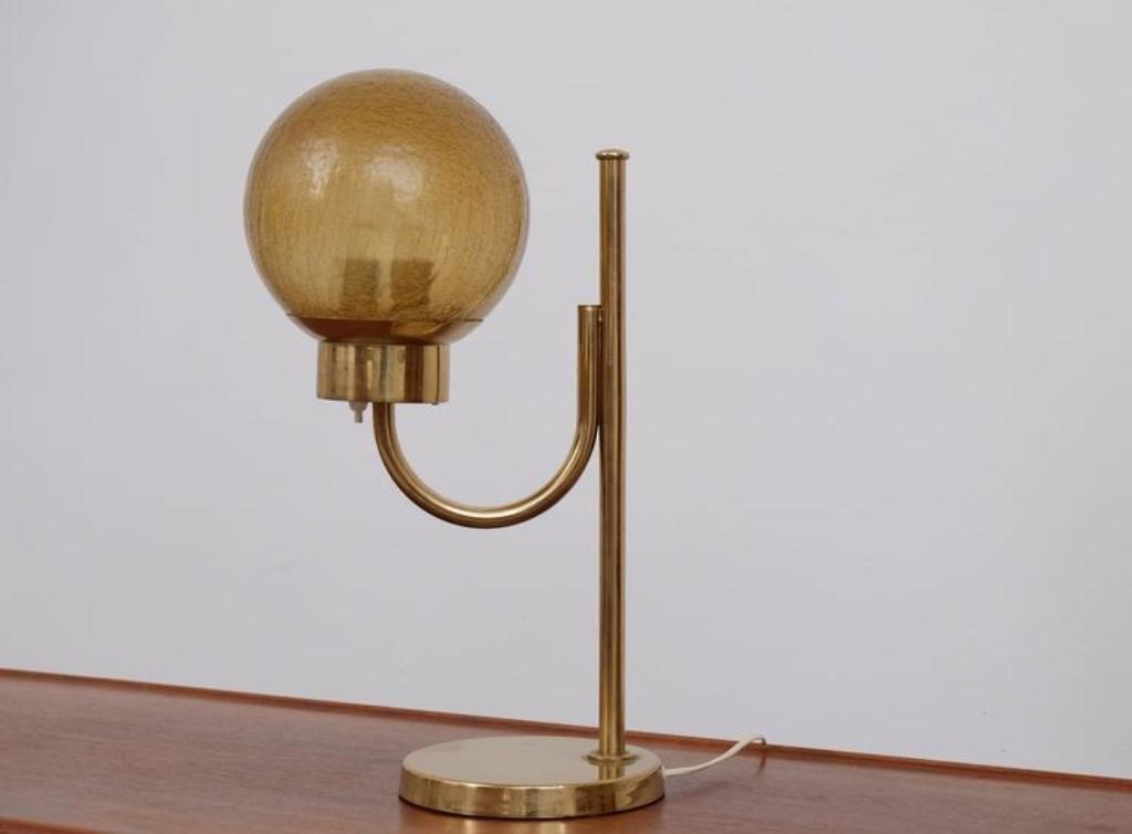 Lampe de bureau model b en laiton de bergboms s en vente