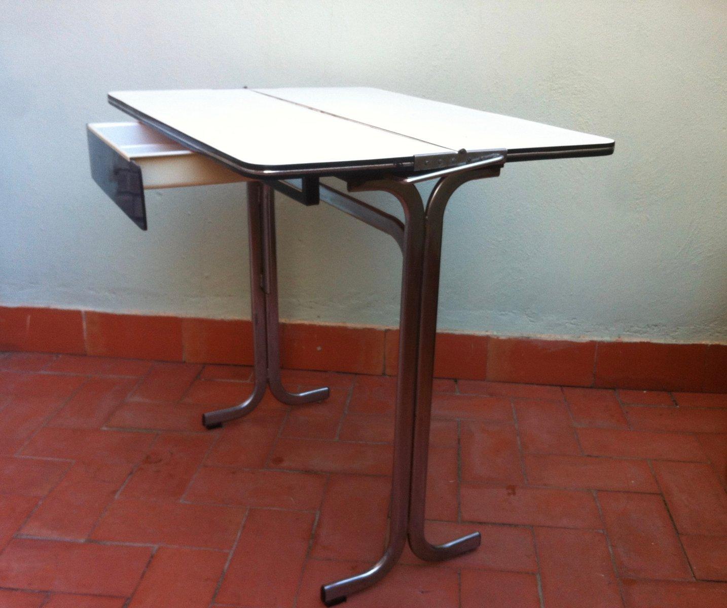 table de cuisine pliable avec tiroir en formica belgique. Black Bedroom Furniture Sets. Home Design Ideas