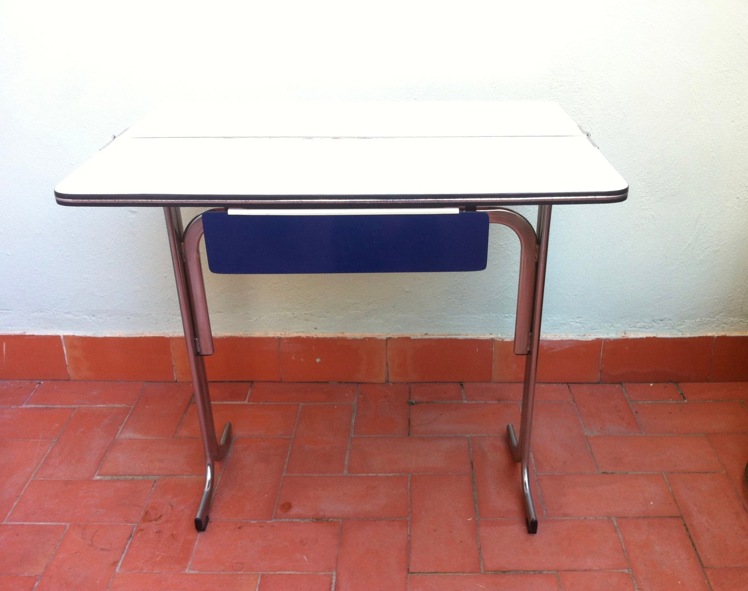 Belgian formica folding kitchen table with drawer 1960s