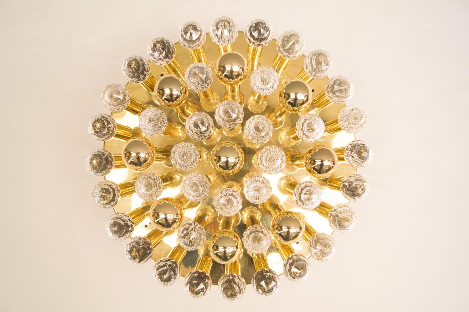 Große Hollywood Regency Deckenlampen von Ernst Palme