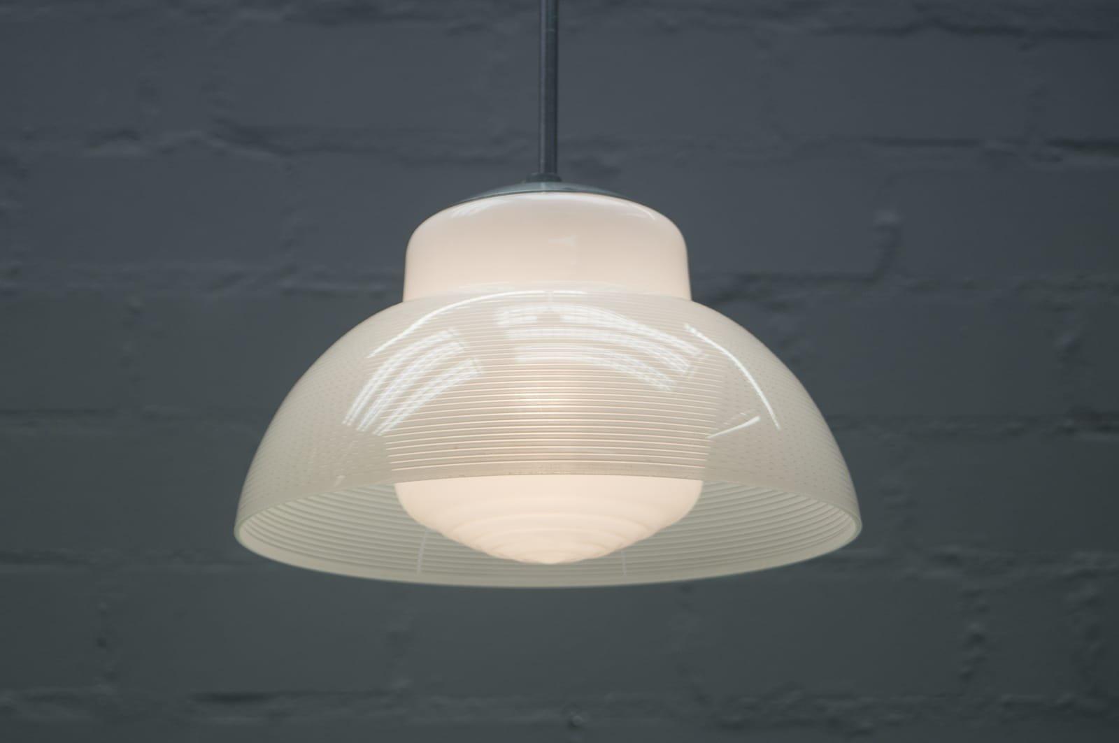 Bauhaus Deckenlampe mit Doppelleuchte, 1940er