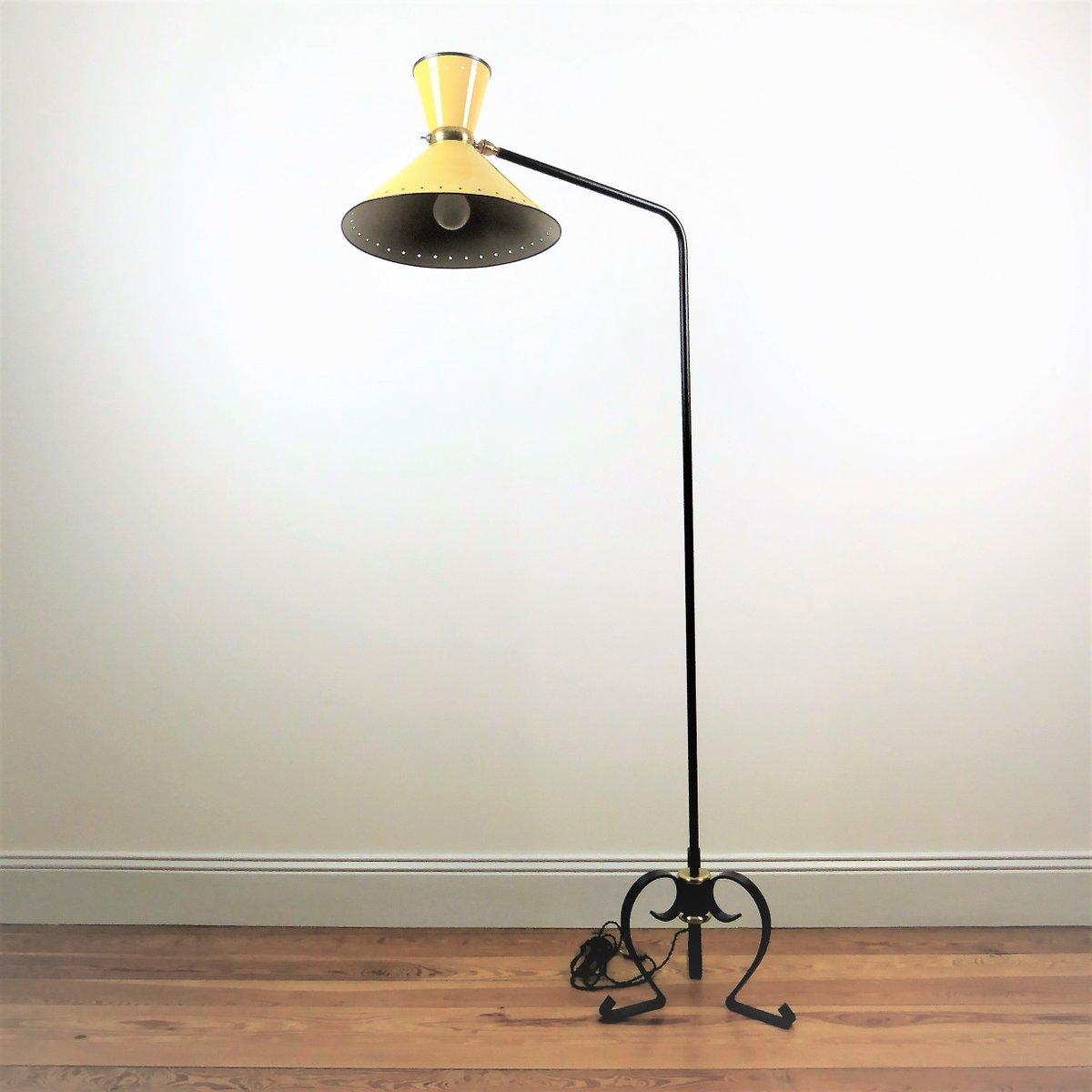 Diabolo Stehlampe von René Mathieu für Lunel, 1950er
