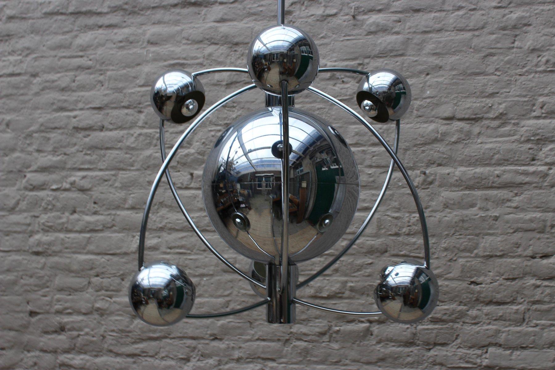Mid-Century Space Age Chrom Kronleuchter von Goffredo Reggiani für Reg...