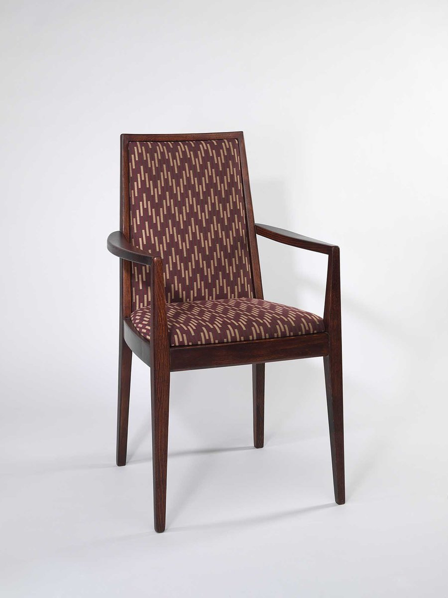 Vintage Brown Armchair From Wiesner Hager 1958 For Sale