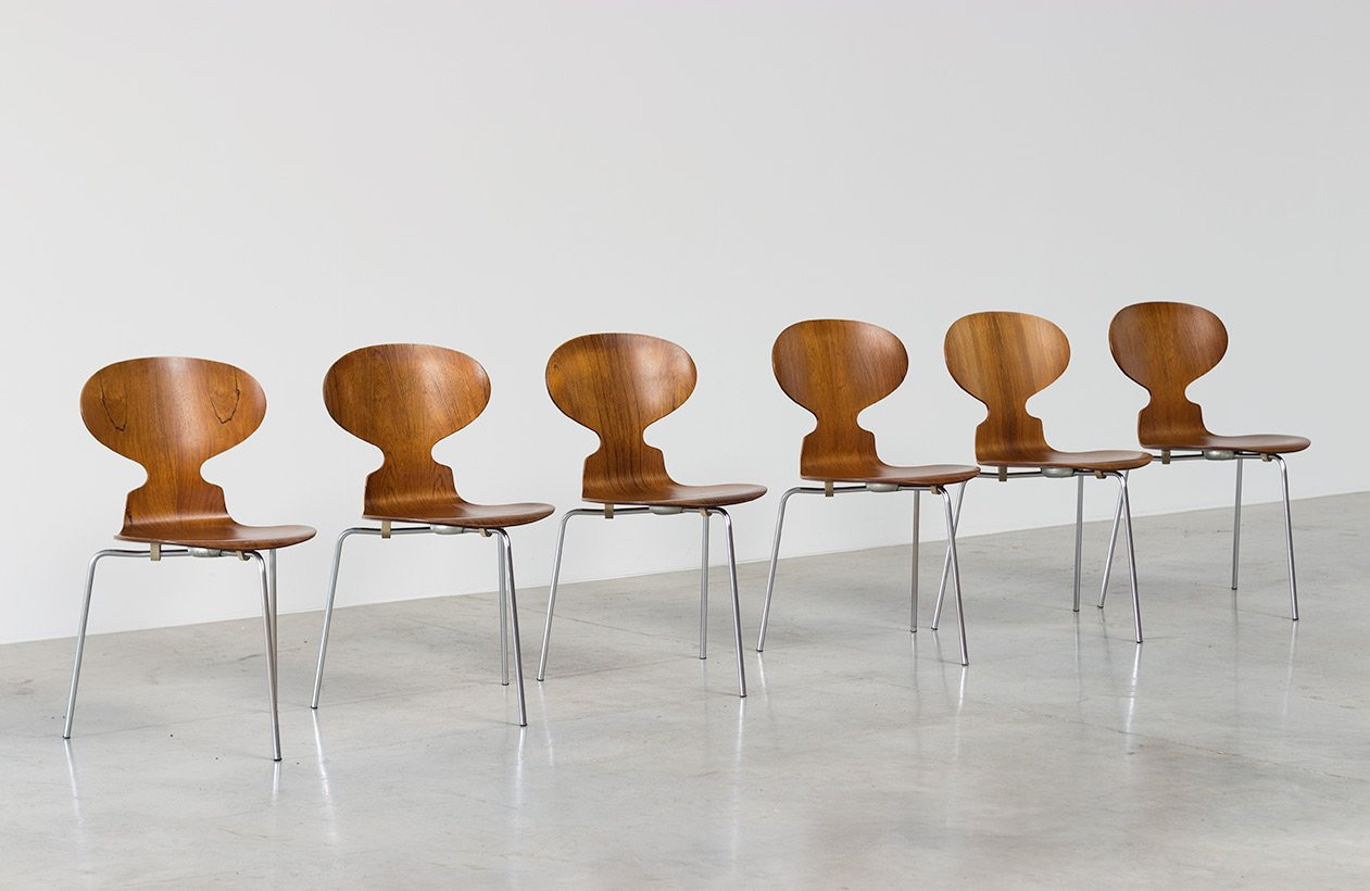 Danish Ant Chairs In Rosewood By Arne Jacobsen For Fritz Hansen Set