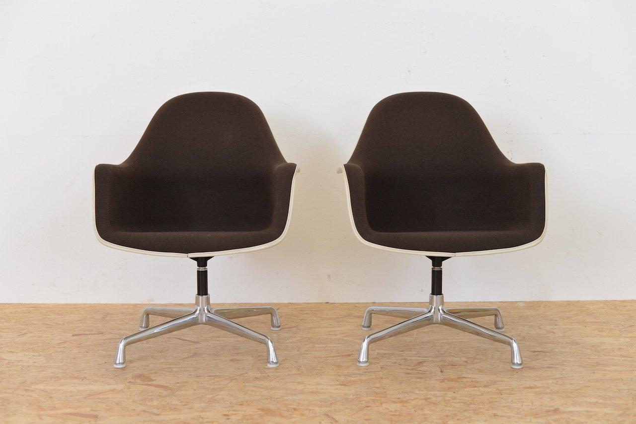 Vintage EC175-8 Sessel mit Hoher Rückenlehne von Charles & Ray Eames f...