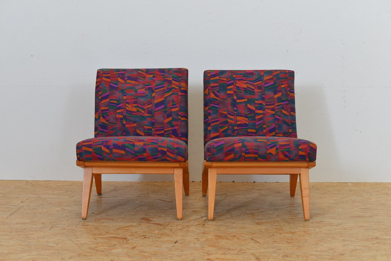 Vintage Model 22 Lounge Chairs By Jens Risom For Knoll Set Of 2