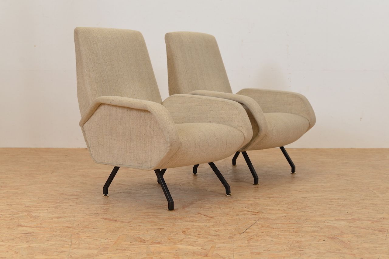 italienische beige vintage sessel 2er set bei pamono kaufen. Black Bedroom Furniture Sets. Home Design Ideas