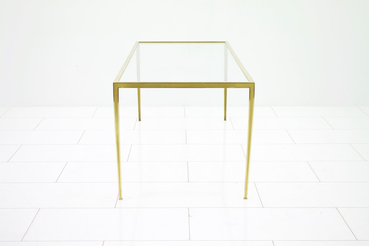 Brass And Glass Sofa Table From Vereinigte Werkstatten 1960s For