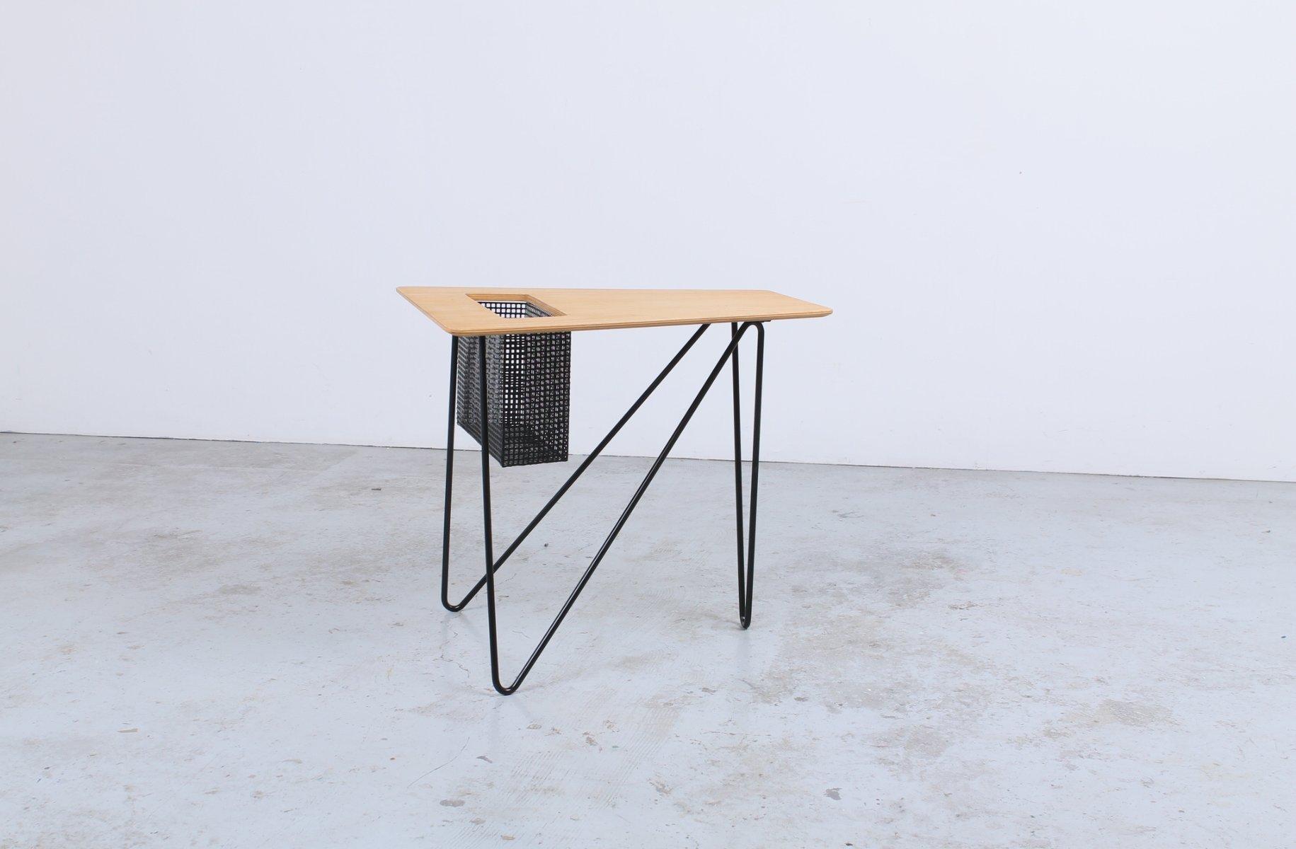 table d 39 appoint vintage combex series et porte revues par cees braakman pour pastoe en vente sur. Black Bedroom Furniture Sets. Home Design Ideas