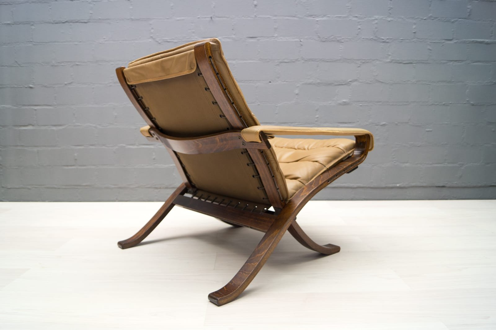 Leather Folding Chair By Ingmar Relling For Westnofa, 1960s
