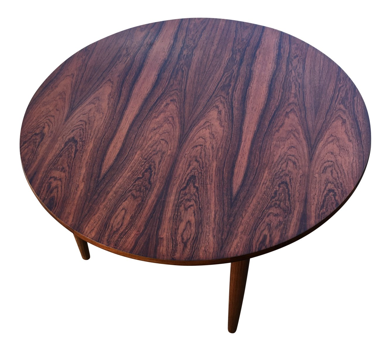 Mid Century Round Rosewood Coffee Table