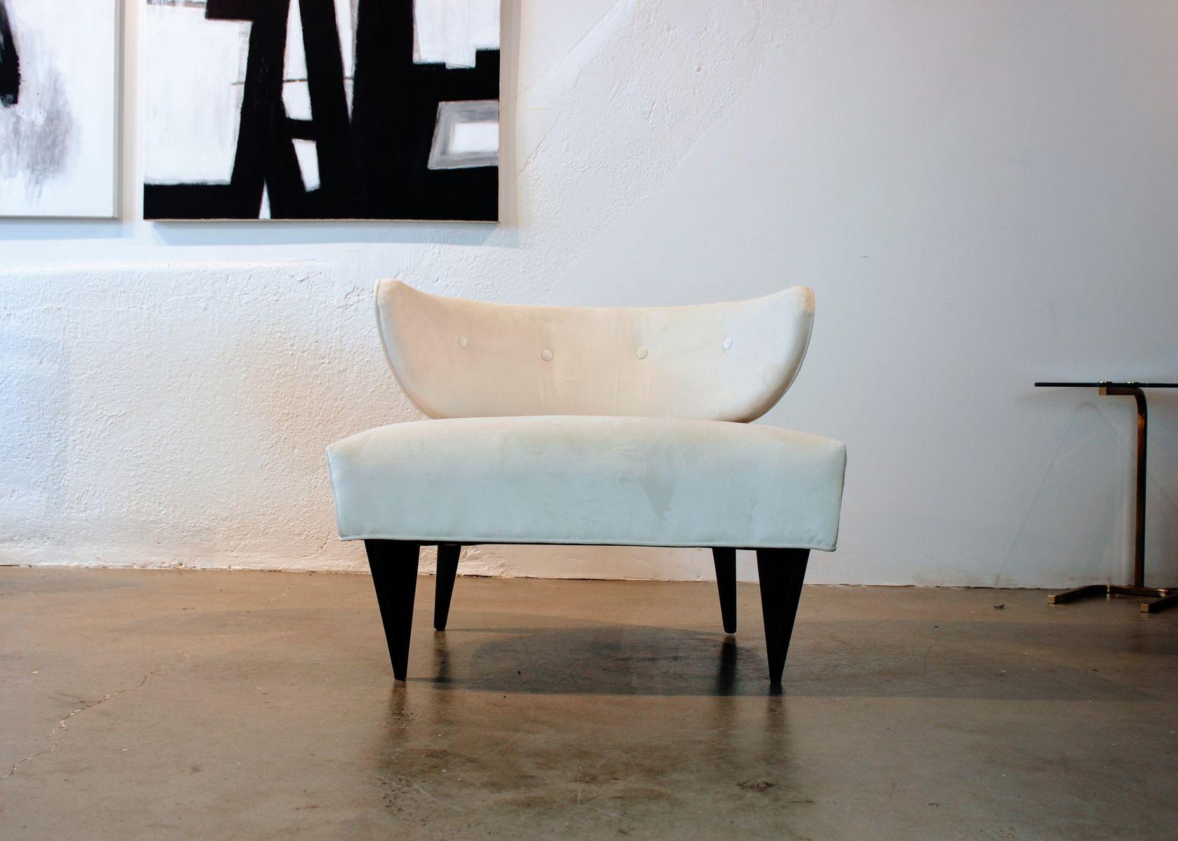 beiger mid century sessel 1950er bei pamono kaufen. Black Bedroom Furniture Sets. Home Design Ideas