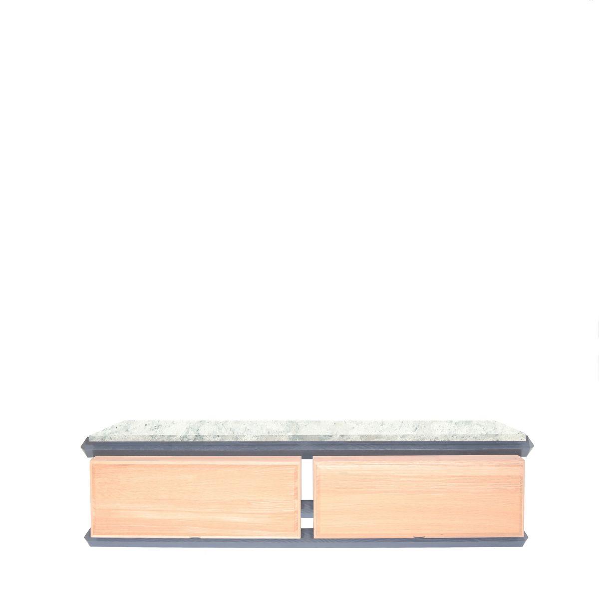 Kommode zur Aufbewahrung mit Breiter Holzschublade und Holzplatte von ...