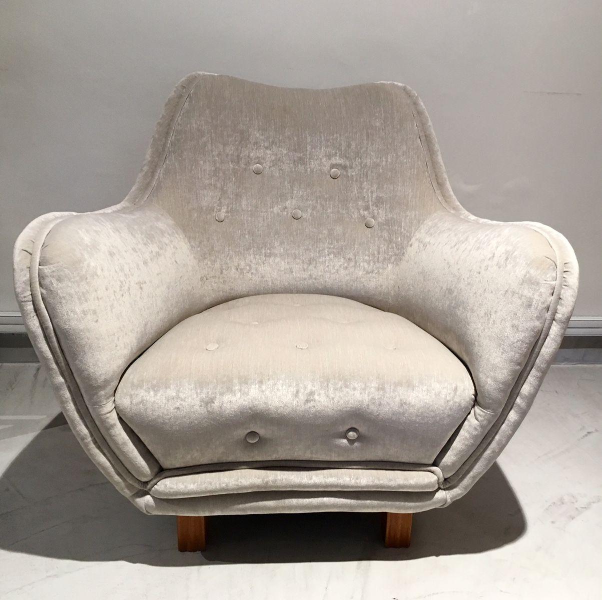 Sessel mit Knöpfen von Levy Carlssons Möbelafärr, 1940er