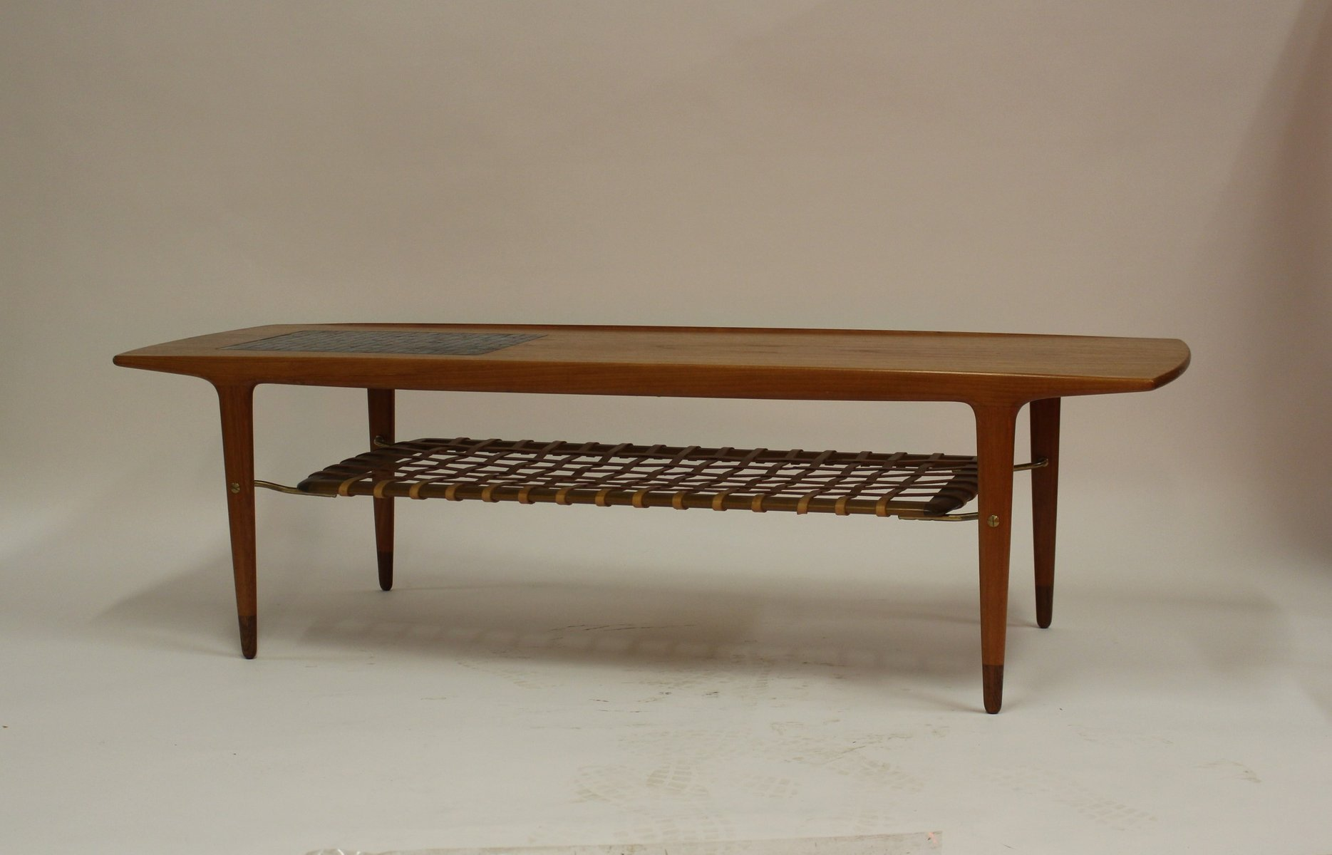 Vintage Danish Teak Coffee Table with Ceramic Tiles and ...