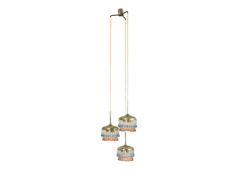 Italienische Neun-Leuchten Hängelampe von Stilnovo, 1950er