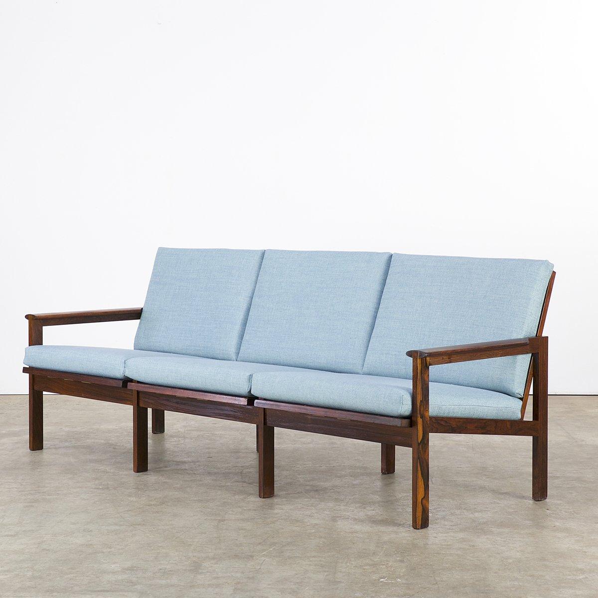 canap trois places en palissandre par illum wikkels pour niels eilersen 1960s en vente sur pamono. Black Bedroom Furniture Sets. Home Design Ideas