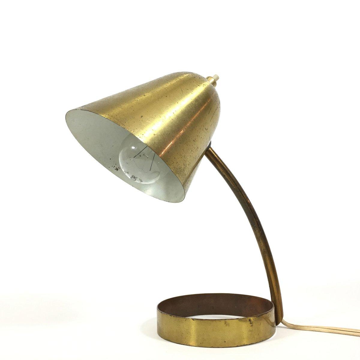Kleine Französische Messing Lampe, 1950er