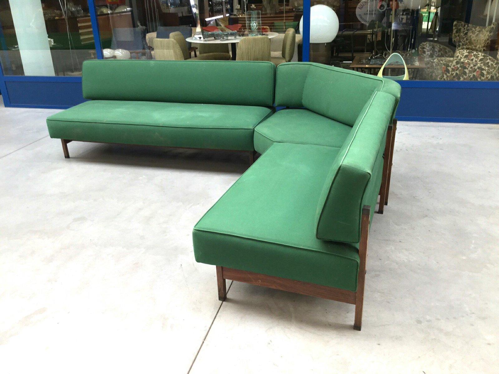 Mid Century Italian Green Modular Corner Sofa 1960s 5 2 334 00