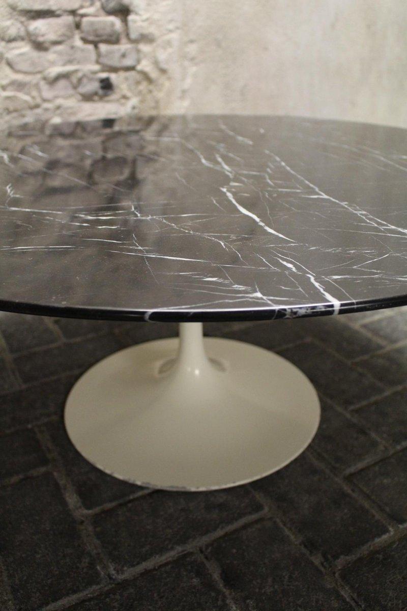 Vintage Black Tulip Coffee Table By Eero Saarinen For