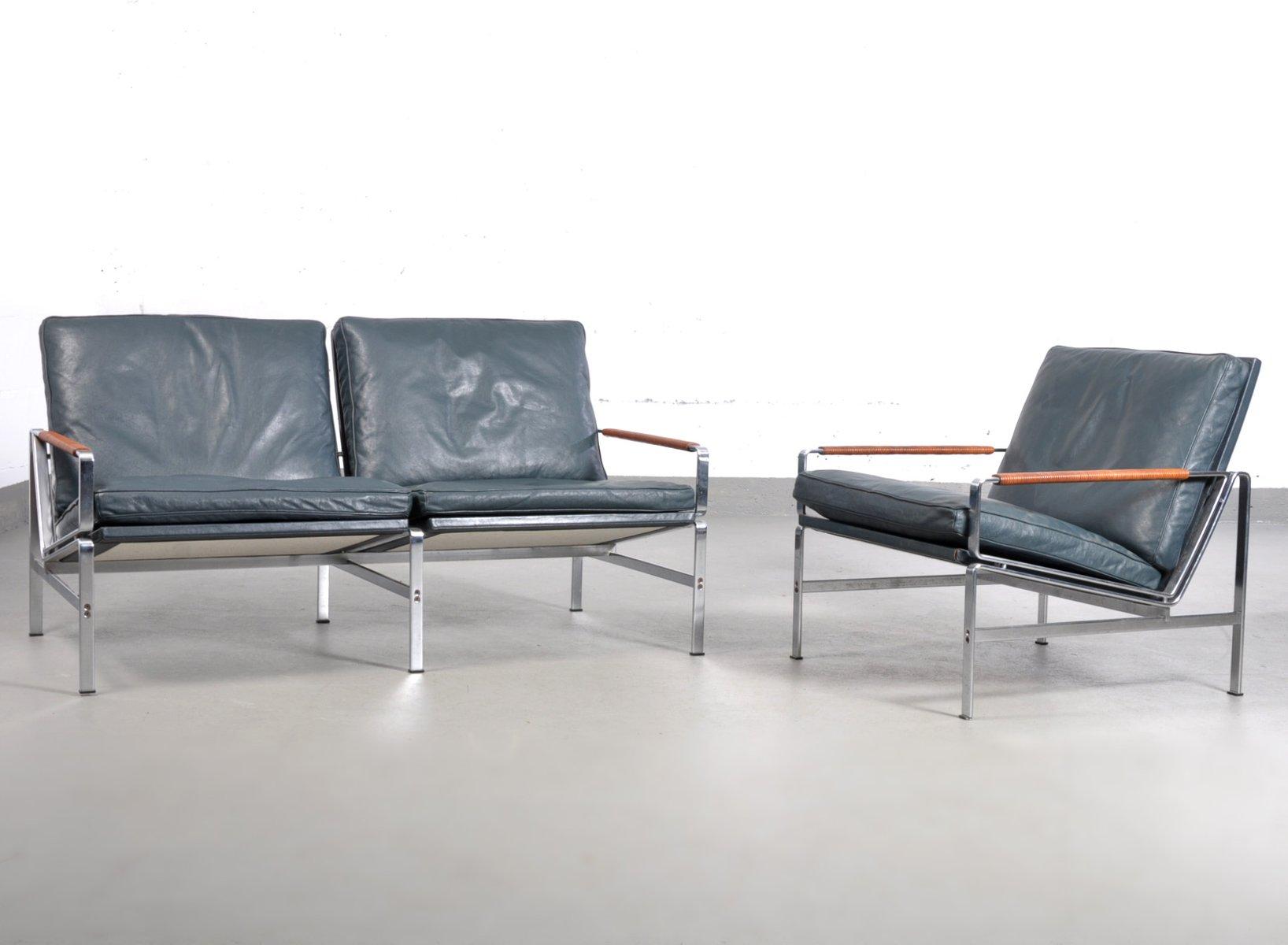 Vintage FK 6720 Polsterstuhl & Zwei-Sitzer Sofa von Fabricius & Kastho...