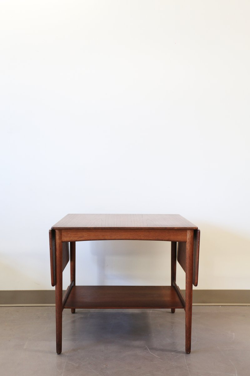 Mid Century Drop Leaf Side Table By Hans Wegner For Andreas Tuck