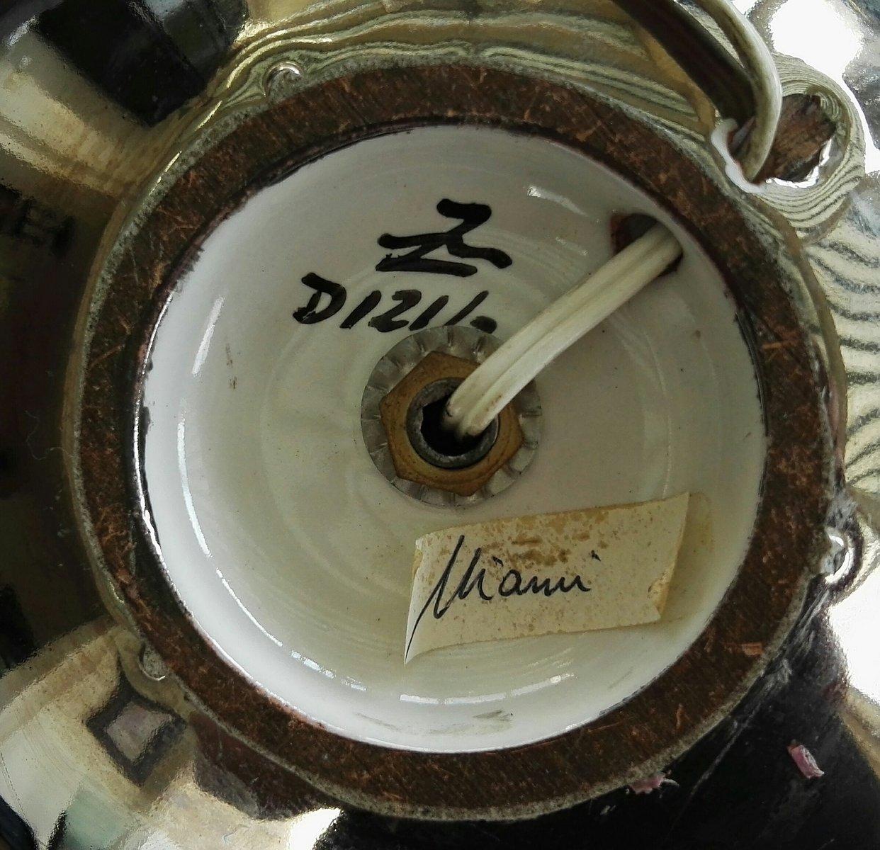 Lampade da tavolo miami in ceramica di ugo zaccagnini anni 39 50 set di 2 in vendita su pamono - Lampade da tavolo anni 50 ...