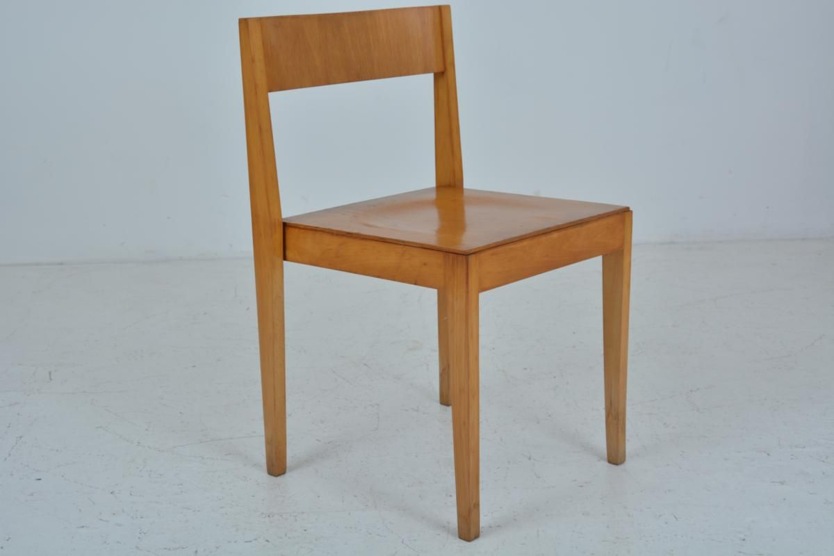 Mid-Century Wooden Dining Chairs from Lübke, 1960s, Set of 6 for ...