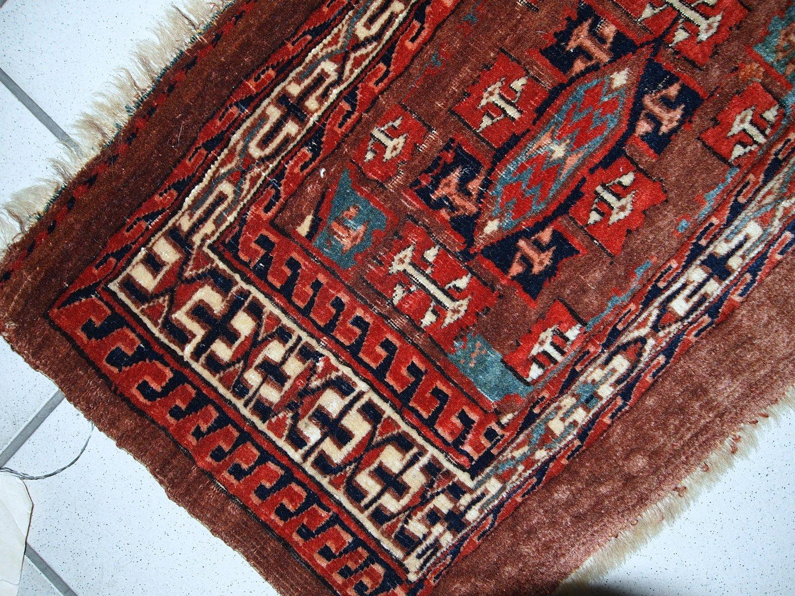 Alfombra yomud turcomana antigua hecha a mano d cada de 1880 en venta en pamono - Alfombras a mano ...