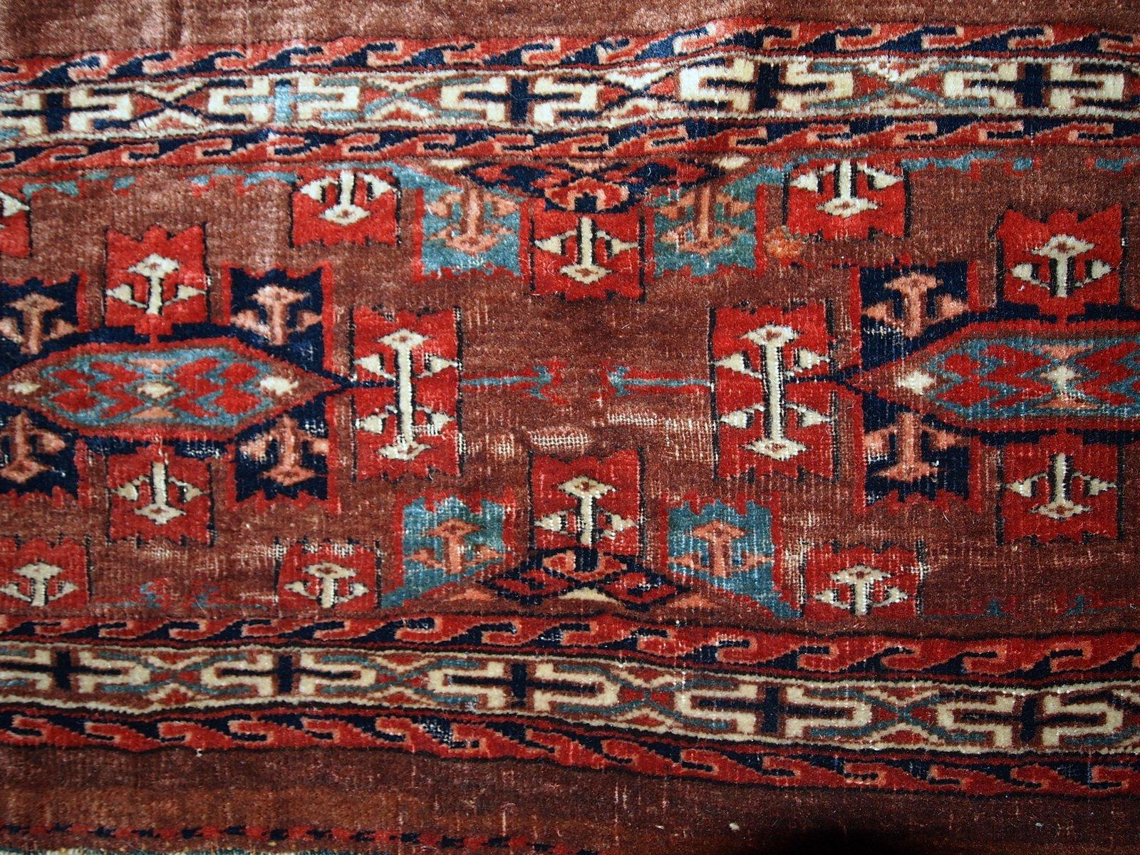 Antiker Handgemachter Turkischer Yomud Teppich 1880er Bei Pamono Kaufen