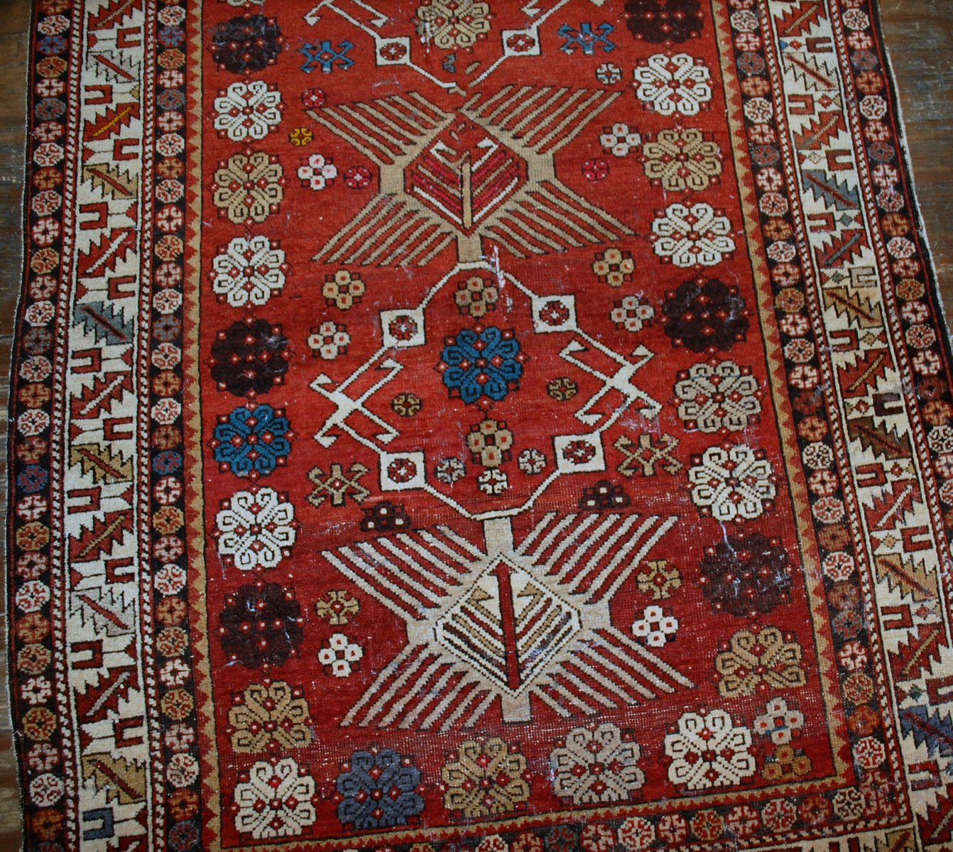Antique Handmade Caucasian Shirvan Rug, 1910s For Sale At