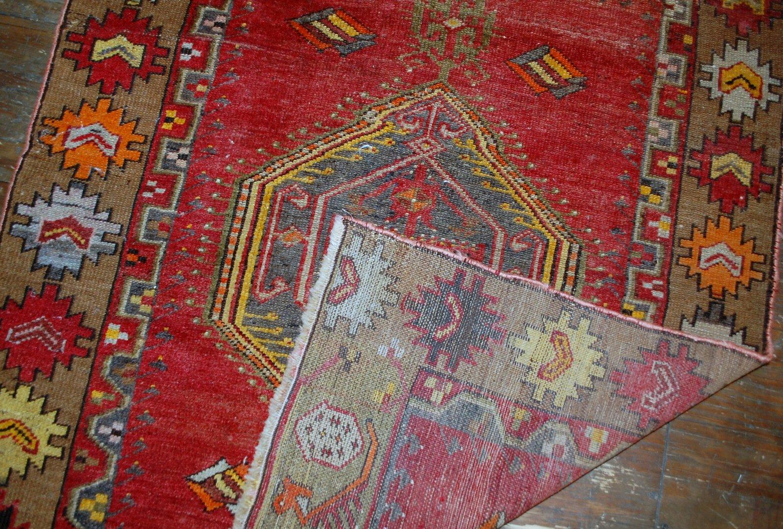 tapis anatolien vintage fait main turquie 1920s en vente sur pamono. Black Bedroom Furniture Sets. Home Design Ideas