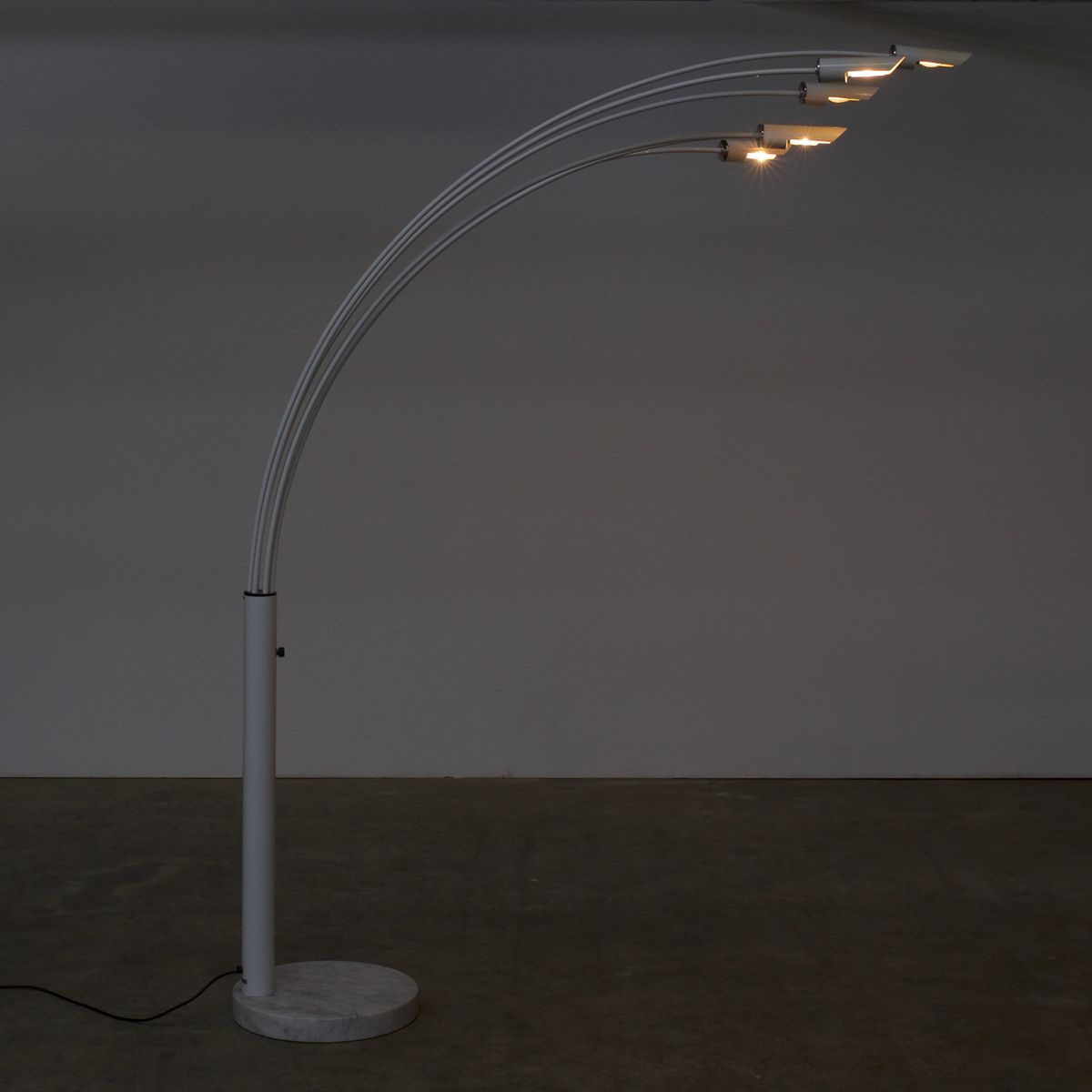 Geräumig Stehlampe Bogen Das Beste Von Italienische Bogen-stehlampe Aus Metall, Chrom & Marmor,