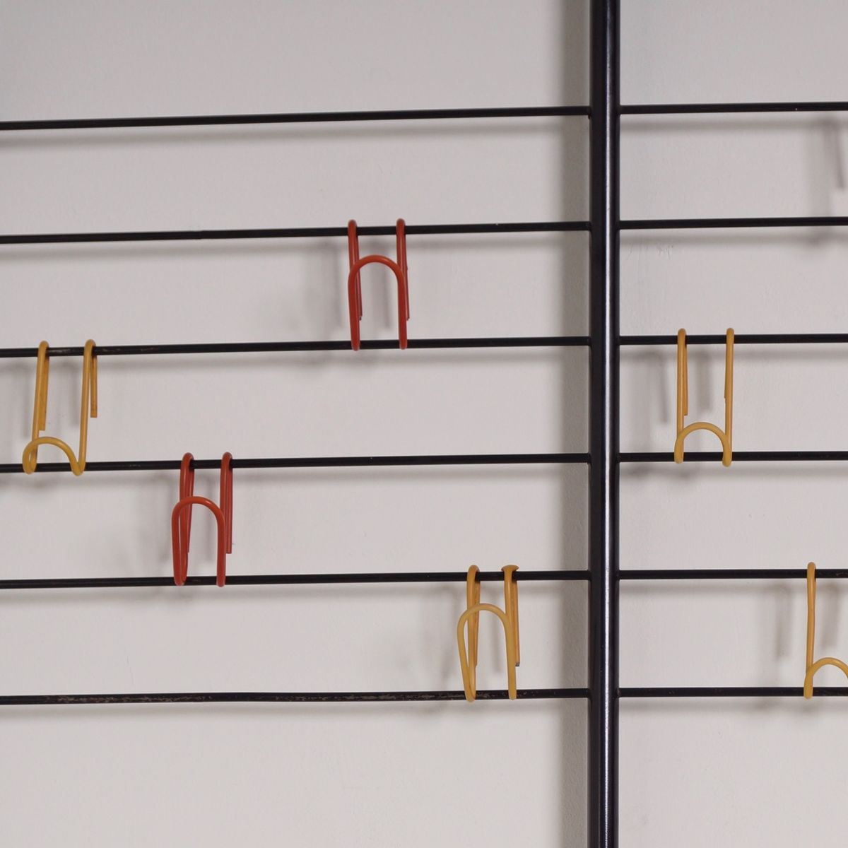 tone ladder wall coat rack by coen de vries for devo  1954