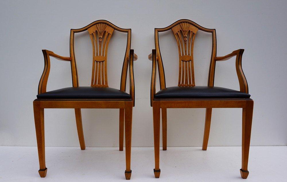 Armlehnstühle Esszimmer | Spanische Vintage Esszimmer Armlehnstuhle Von Valenti 6er Set Bei