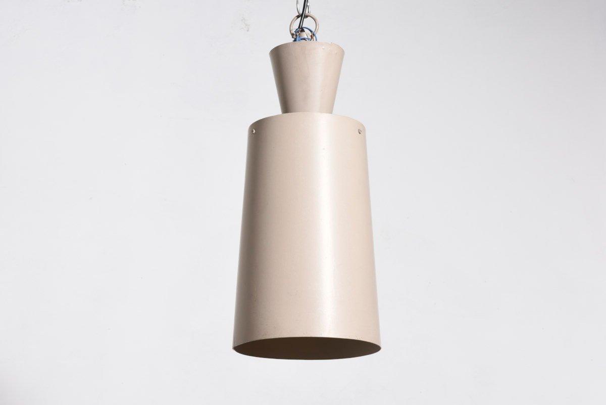 Moderne Industrielle Deckenlampe von Philips, 1959