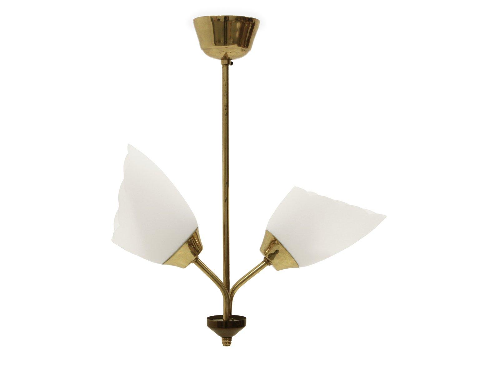Mid-Century Deckenlampe mit Doppelleuchte